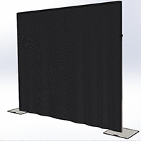 floor standing curtain drape